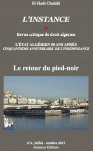 Le n°4 de la revue L'Instance, en format 11x18, 236 pages.
